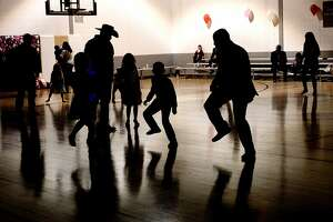 Little Sweethearts Dance for parents and children at the Midland YMCA on Saturday, Feb. 4, 2017. James Durbin/Reporter-Telegram