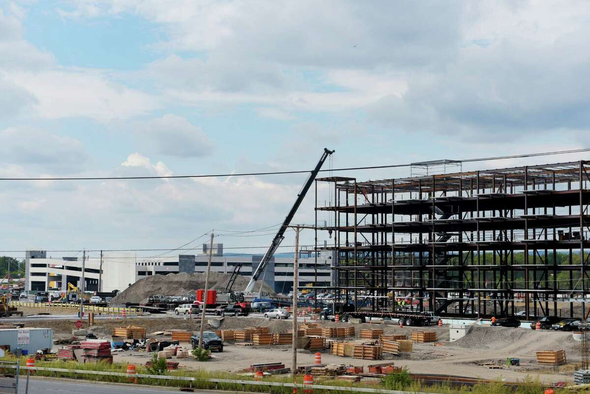 Construction work continues on the Rivers Casino and Resort construction project, on Wednesday, Sept. 14, 2016, in Schenectady, N.Y. (Paul Buckowski / Times Union)