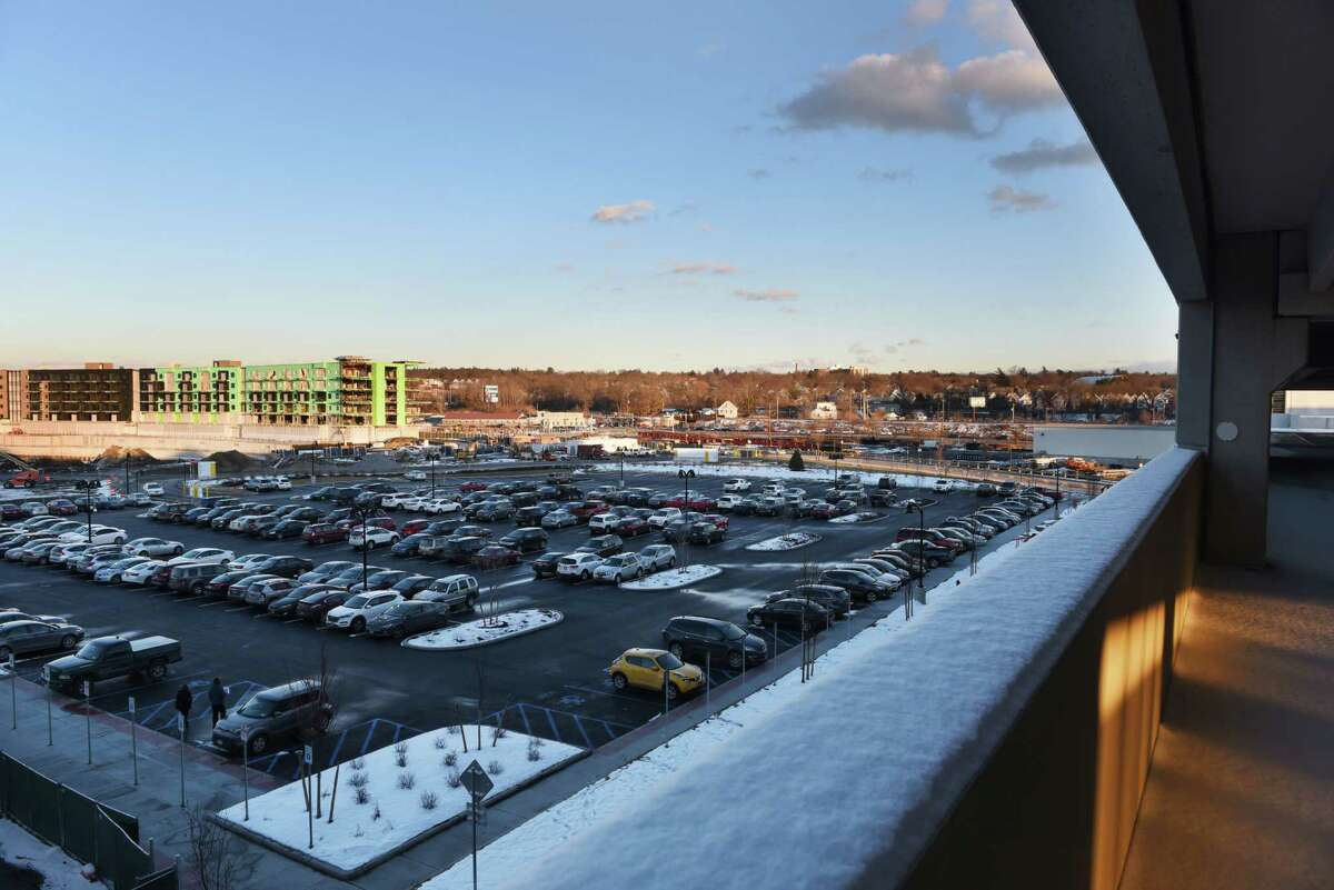 Eastern parking lot at Rivers Casino & Resort Schenectady at sunset on Wednesday, Feb. 1, 2017, in Schenectady, N.Y. (Will Waldron/Times Union)