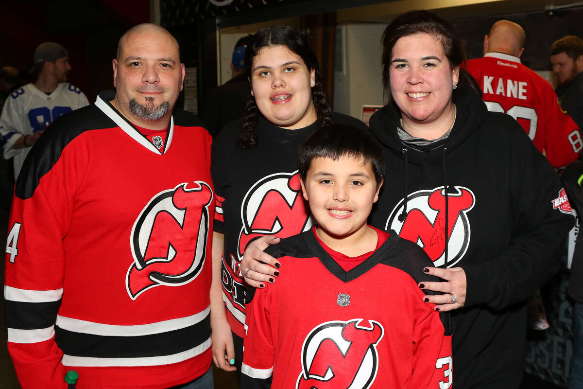 Originally from New Jersey, now living in Binghamton, the Alfano family is excited to have the Devils come to Binghamton. (Jeff Miller / Special to the Times Union)