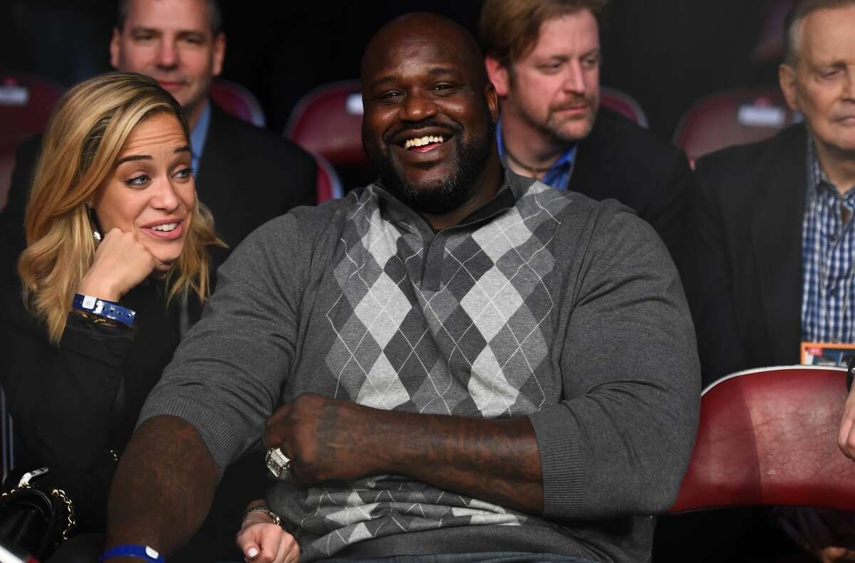 HOUSTON, TX - FEBRUARY 04: Former NBA player Shaquille O'Neal watches the fights during the UFC Fight Night event at the Toyota Center on February 4, 2017 in Houston, Texas. (Photo by Jeff Bottari/Zuffa LLC/Zuffa LLC via Getty Images)