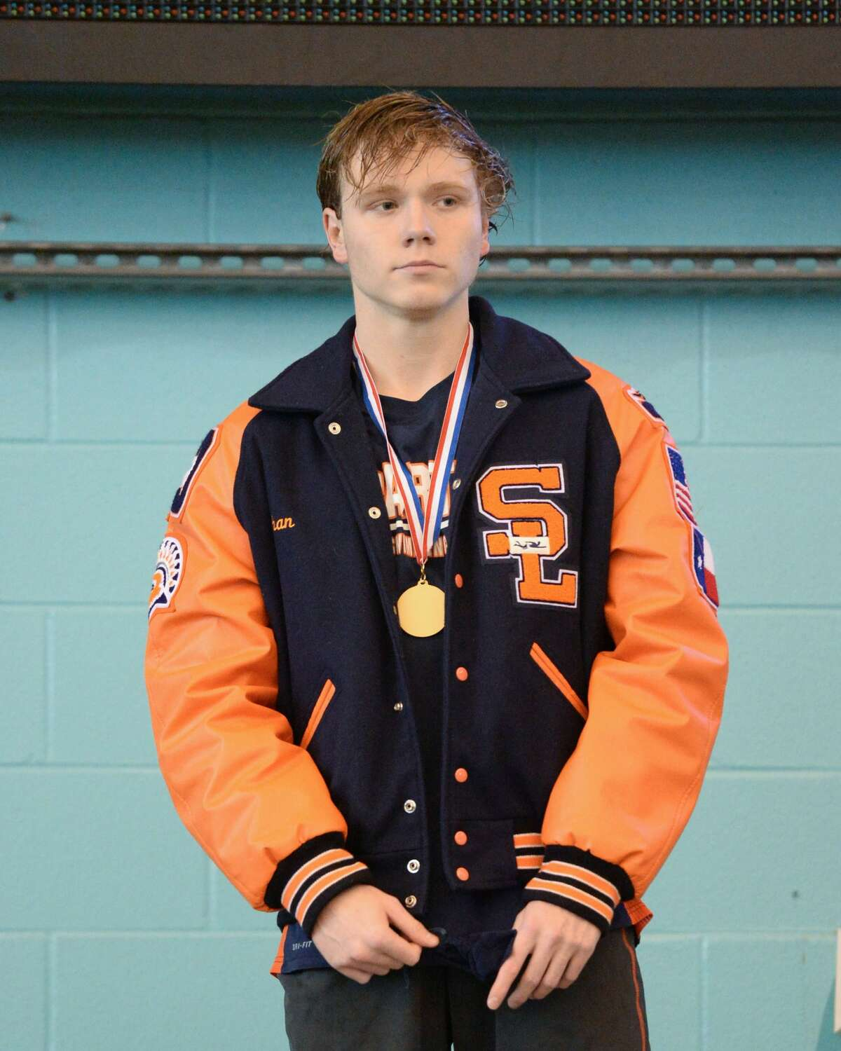 Ethan Autry of Seven Lakes captured first place in the boys 50 yard freestyle at the UIL Conference 5-6A Regional Swimming and Diving Championship on February 4, 2017 at the Don Cook Natatorium, Sugar Land, TX.