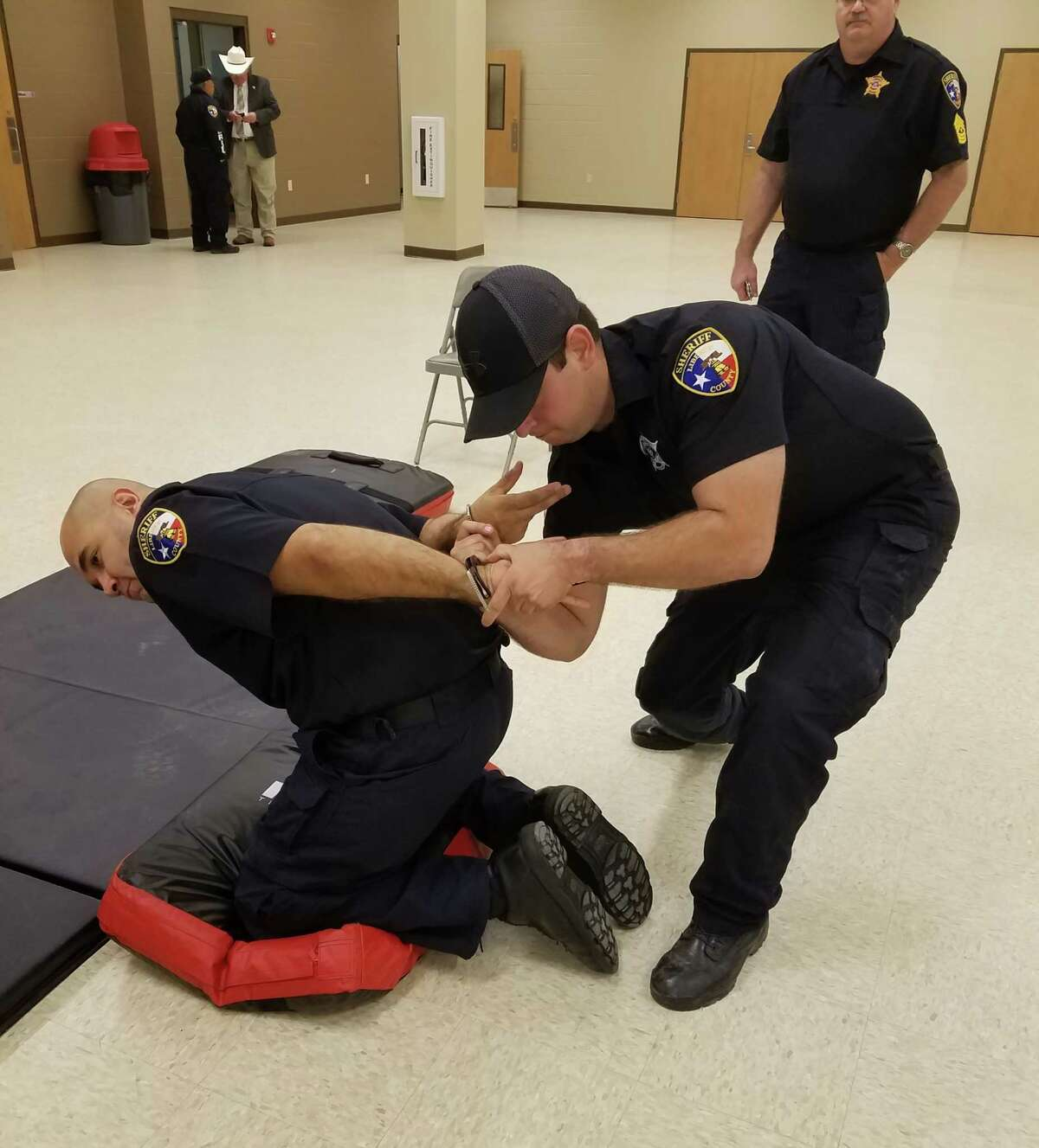 Deputies with the Liberty County Sheriff's Office trained in defensive tactics recently.