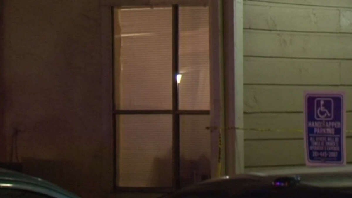 Police investigate a man found dead of apparent gunshot wounds in north Harris County about 6 p.m. Saturday, Feb. 4, 2017. (Metro Video)