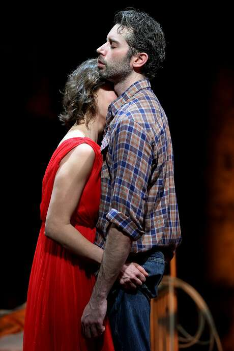 """From left: Jessi Campbell (May) and Andrew Pastides (Eddie) in """"Fool for Love,"""" at the Magic Theatre on Saturday, Feb. 4, 2017 in San Francisco, Calif. Photo: Santiago Mejia, The Chronicle"""