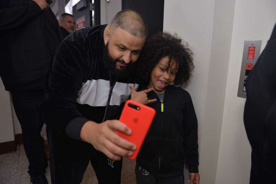 DJ Khaled was inspired to Snapchat with an adorable Houston fan. Photo: Joey Guerra / Houston Chronicle