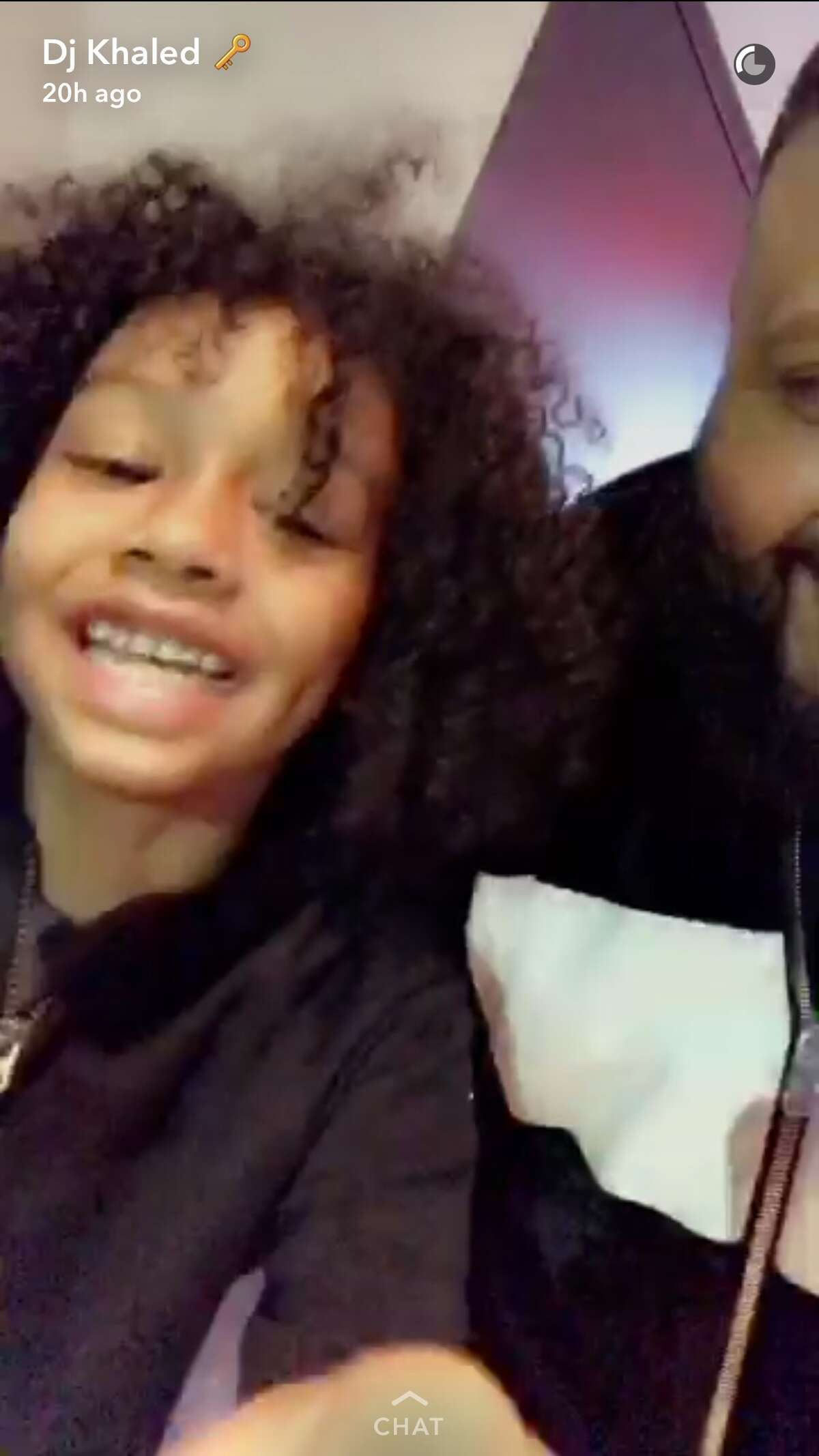 DJ Khaled was inspired to Snapchat with an adorable Houston fan.