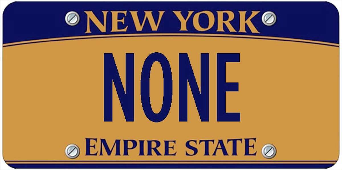 A sampling of personalized plates not allowed by New York's Department of Motor Vehicles. The list is updated periodically by state officials.