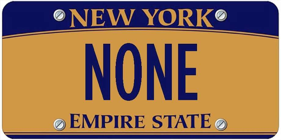 A sampling of personalized plates not allowed by New York's Department of Motor Vehicles. The list is updated periodically by state officials. Photo: Photo Illustration