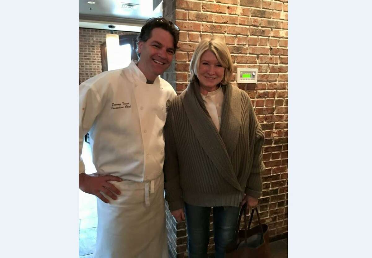 Martha Stewart and Brennan's of Houston chef Danny Trace Saturday, Feb. 4, 2017. >>Click to see where other celebrities were spotted in Houston for Super Bowl LI.