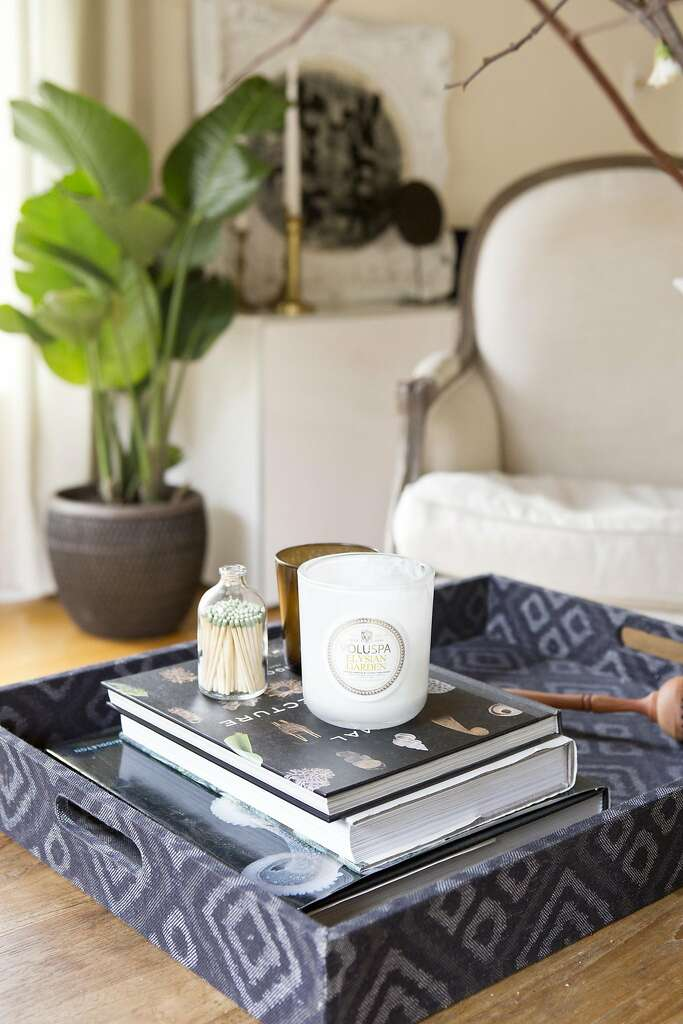 Wiebke Liu's simple storage vignette in her Oakland home. Photo: Vivian Johnson, Special To The Chronicle
