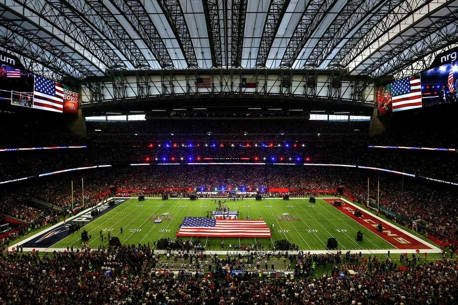Pregame ceremonies for Super Bowl LI at NRG Stadium on Sunday, Feb. 5, 2017 in Houston. Photo: Michael Ciaglo, Houston Chronicle / Michael Ciaglo