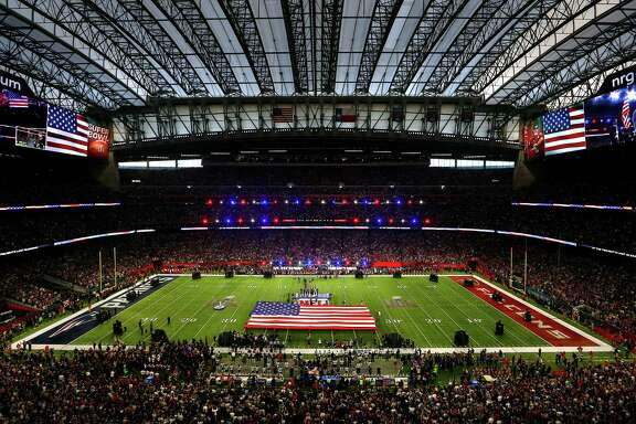 Pregame ceremonies for Super Bowl LI at NRG Stadium on Sunday, Feb. 5, 2017 in Houston.