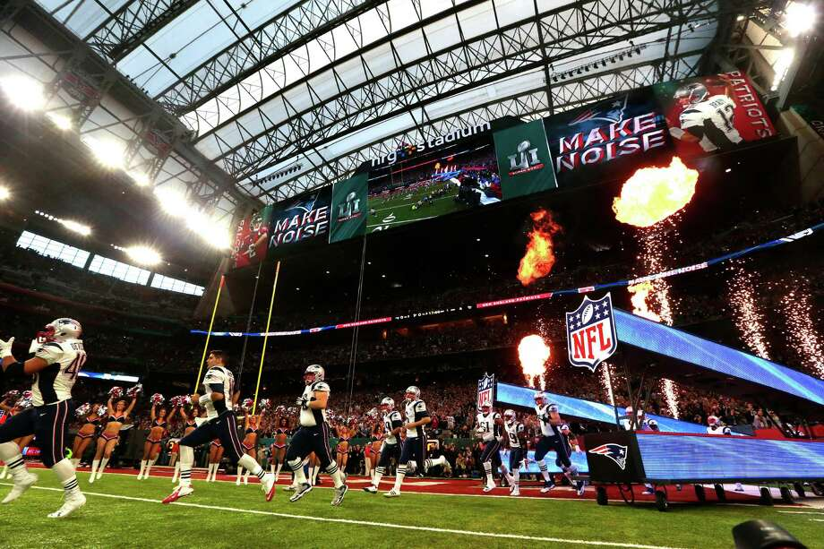 New England Patriots players head onto the field before Super Bowl LI at NRG Stadium on Sunday, Feb. 5, 2017, in Houston. Photo: Brett Coomer, Houston Chronicle / © 2017 Houston Chronicle