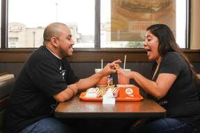 Luis Limon and Denise Gomez will be married on March 11. The two decided to go non-traditional with their engagement photos and the internet is loving it.