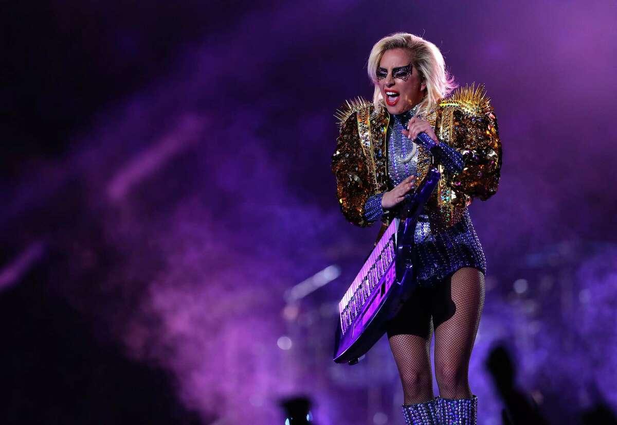 Lady Gaga performs during halftime of Super Bowl LI at NRG Stadium on Sunday, Feb. 5, 2017, in Houston.