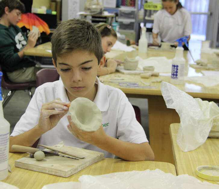 Students from all grade levels, plus faculty, staff, parents and friends from the community created handmade bowls for the February 25 event to be held on campus in the Student Center.