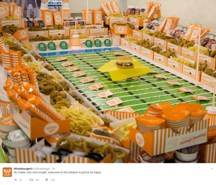 Lady GagaWhataburger recently tweeted a delicious photo of a stadium made entirely out of food.Click through to see social media reactions to Lady Gaga's show.Source: ‏@Whataburger