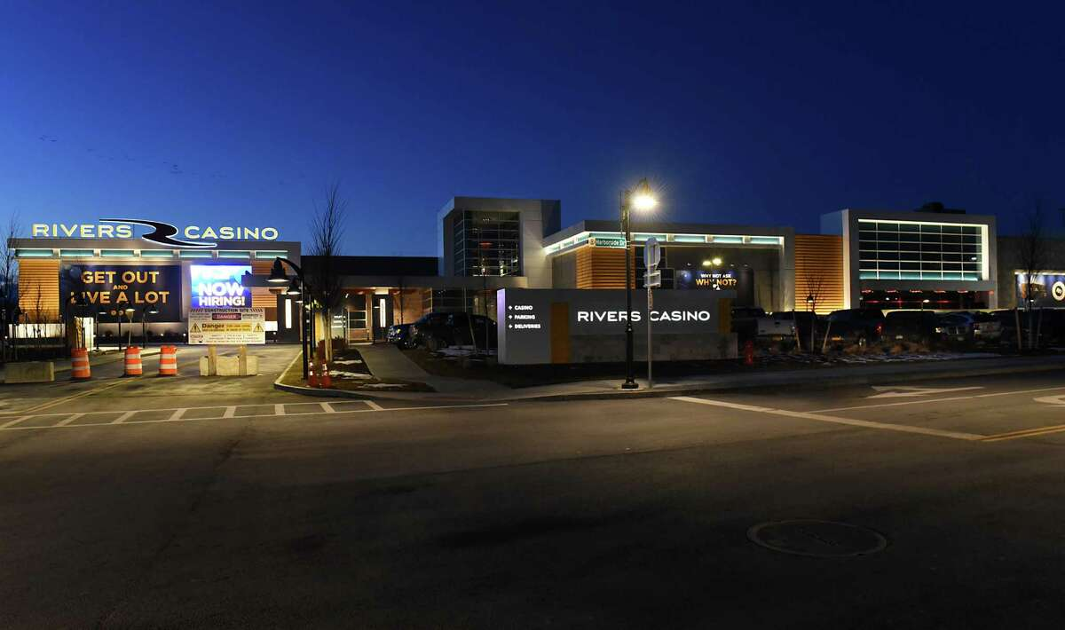 Exterior of Rivers Casino & Resort at night on Thursday Feb. 2, 2017 in Schenectady, N.Y. (Lori Van Buren / Times Union)