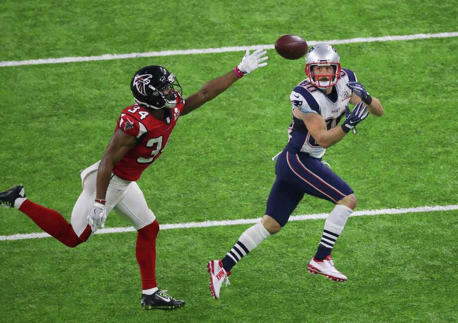 Danny Amendola, right, comes up big for the Patriots as the wide receiver, who grew up in  The Woodlands, pulls in one of his eight catches for 78 yards and a touchdown in Super Bowl LI. Photo: Jon Shapley, Staff / © 2017  Houston Chronicle