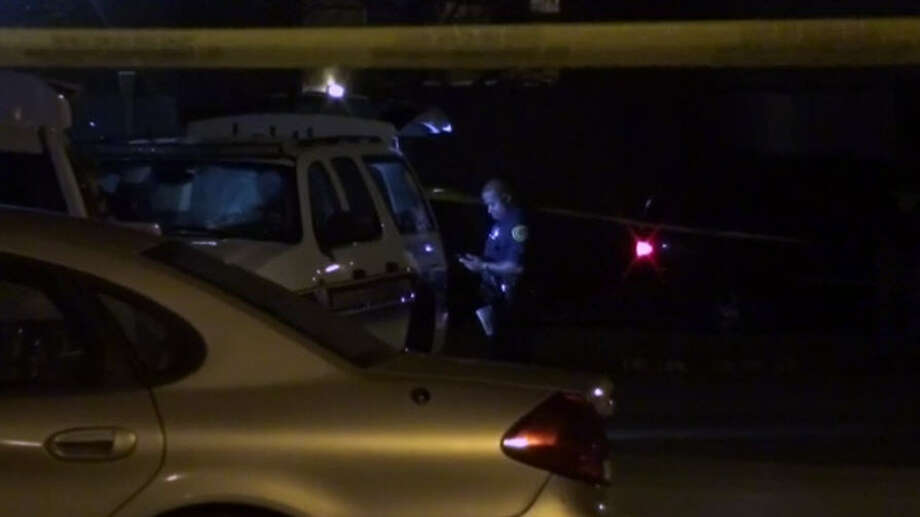 A person was found shot to death in an apartment courtyard during the Super Bowl.