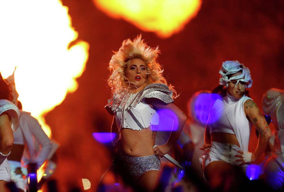 Lady Gaga performs at halftime of Super Bowl LI at NRG Stadium on Sunday, February 5, 2017. ( Karen Warren / Houston Chronicle ) Photo: Karen Warren/Houston Chronicle