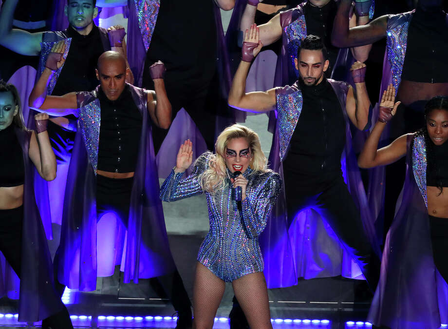 Lady Gaga performs during halftime of Super Bowl LI at NRG Stadium on Sunday, Feb. 5, 2017 in Houston. ( Michael Ciaglo / Houston Chronicle ) Photo: Michael Ciaglo/Houston Chronicle
