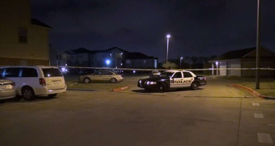 While Super Bowl 51 was under way, a man was fatally shot at a southeast Houston apartment complex about three miles from NRG Stadium. After multiple callers reported hearing shots about 6:20 p.m. Sunday, emergency responders found a man dead in the courtyard in the 3300 block of Alice, Feb. 5, 2017. Photo: Screen Shot From Metro Video