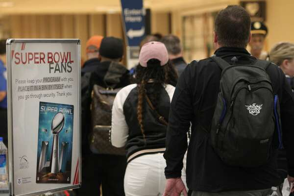 Lines at IAH were moving well as Super Bowl fans head home on Feb. 6, 2017.