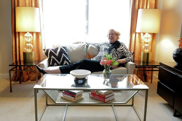 Margaret Paff in her  Brazos Towers apartment on Wednesday, Jan. 25, 2017, in Houston.
