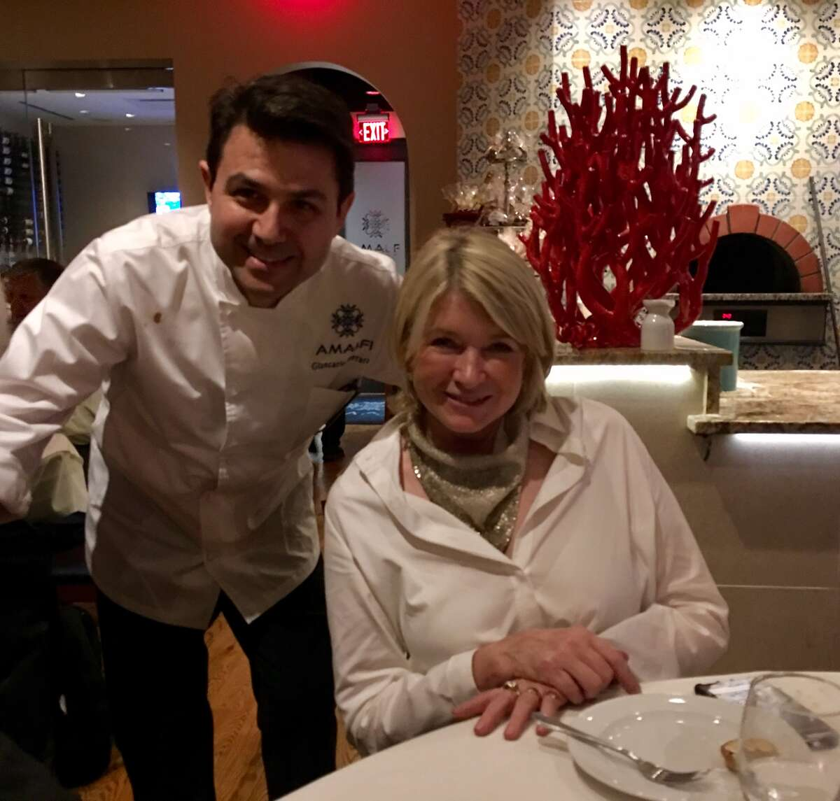 Chef/owner Giancarlo Ferrara of Amalfi Ristorante Italiano & Bar where cookbook author and food television star Martha Stewart dined on Saturday.