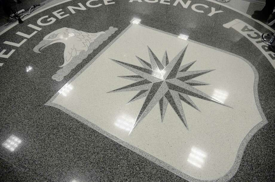 The CIA seal is seen on the floor during a visit by U.S. President Donald Trump on Jan. 21, 2017 at the CIA headquarters in Langley, Va. (Olivier Douliery/Pool/Sipa USA/TNS) Photo: Olivier Douliery, POOL / TNS / Sipa USA
