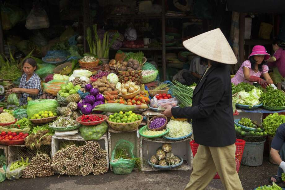 Fresh vegetables for sale at Dong Ba Market, Hue Photo: Peter Stuckings, Contributor / Getty Images/Lonely Planet Images / Peter Stuckings