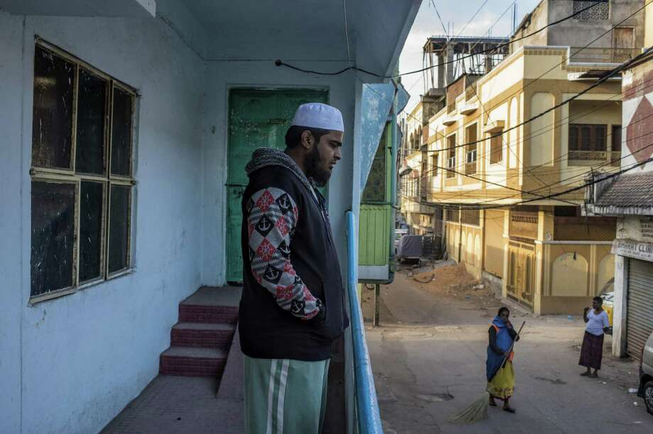 Mohammed Ishaq Yazdani, a brother of two men accused of plotting to carry out a terrorist attack in the name of the Islamic State group, at home in Hyderabad, India, Jan. 10, 2017. At each step, jihadist handlers kept in constant touch with their recruits through encrypted messaging applications, right up to the menÕs arrest in June. (Atul Loke/The New York Times) Photo: ATUL LOKE, STR / NYT / NYTNS