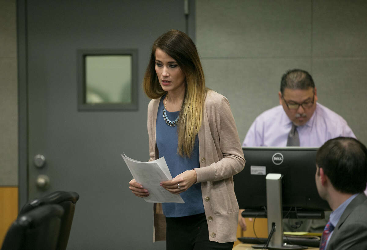 Former Westlake High School teacher Haeli Wey pleaded guilty to two counts of an improper relationship with students in an agreement with prosecutors at her prearranged court date Friday morning in Judge P. David Wahlberg's 167th District Court February 3, 2017. She is scheduled to return March 10 for official sentencing. RALPH BARRERA/AMERICAN-STATESMAN