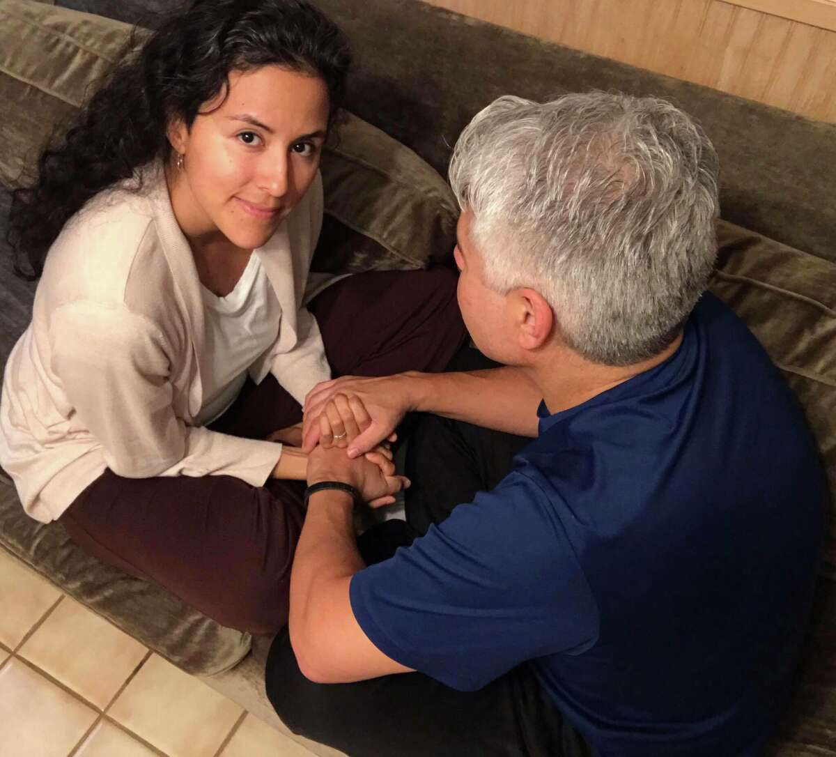 Janet Trevino, 37, provides non-sexual cuddling sessions for people in San Antonio and the surrounding areas through Cuddlist.com.