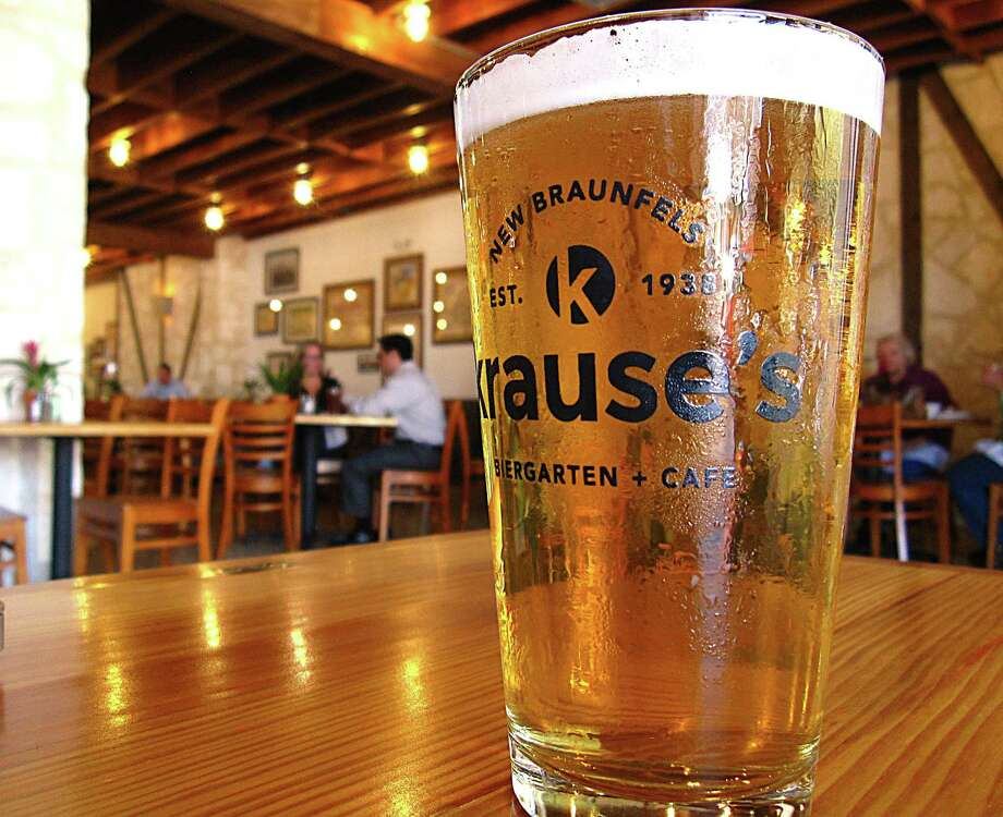 Krause's Biergarten & Cafe, located at 148 S. Castell Ave., New Braunfels, is one of several downtown businesses that participates in the monthly First Friday events. Hundreds are expected to turn out for First Friday in downtown New Braunfels this weekend. Photo: Mike Sutter /San Antonio Express-News