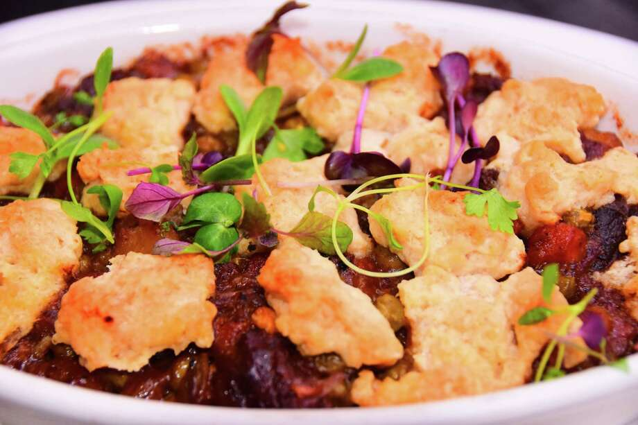 Beef cobbler at The Olde English Pub & Pantry in Albany. (Steve Barnes/Times Union)