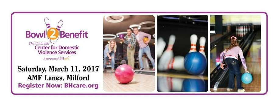 The Umbrella Center for Domestic Violence Services, a program of BHcare, is looking for bowlers and sponsors to participate in the 29th Annual Bowl-2-Benefit, taking place Saturday, March 11 at AMF Lanes in Milford. Image courtesy of BHCare. Photo: Contributed / Contributed