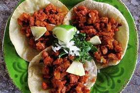 Week 6 Taco of the Week: Tacos al pastor on handmade corn tortillas from Paloma Blanca on Broadway.