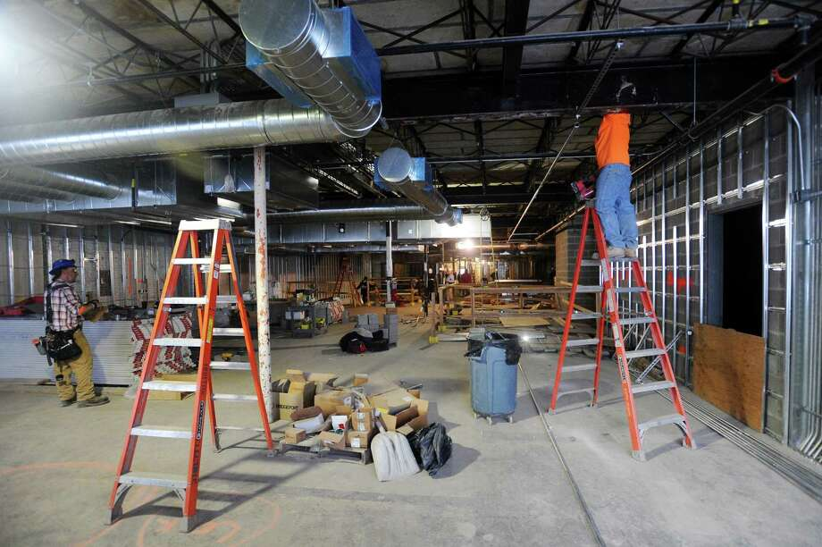 Construction Workers Make Improvements Wednesday On The Second Floor Of The  Bobby Vu0027s Off Track