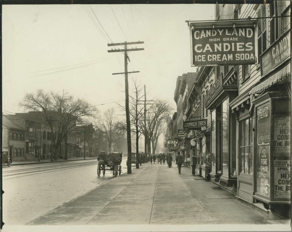 Keep clicking to see how Central Avenue has changed through the years.  Central Avenue circa 1922. (Courtesy of the Albany Public Library)