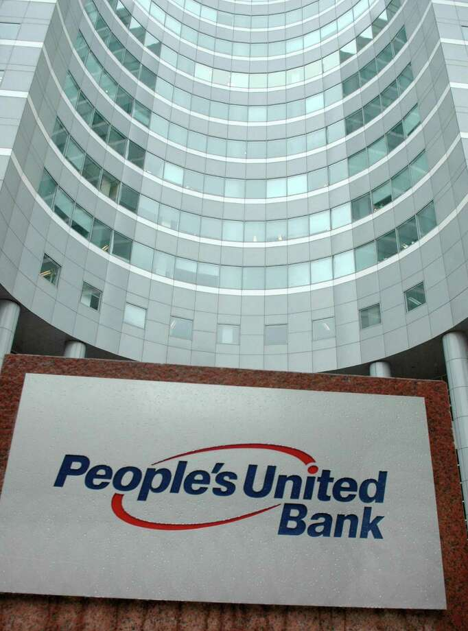 The Bridgeport, Conn. headquarters of People's United Bank and parent People's United Financial. Photo: Cathy Zuraw / ST / Connecticut Post