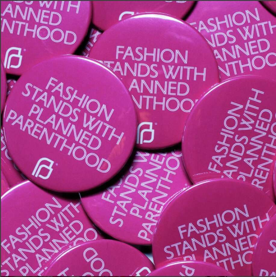 """Pins that state """"Fashion Stands With Planned Parenthood,"""" will be distributed at New York Fashion Week by the Council of Fashion Designers of America in support of the organization. Photo: CFDA/Instagram"""