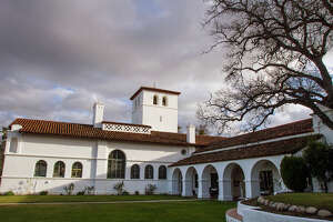 The Hearst Hacienda on the grounds of what is now the Army's Fort Hunter Liggett in southern Monterey County.
