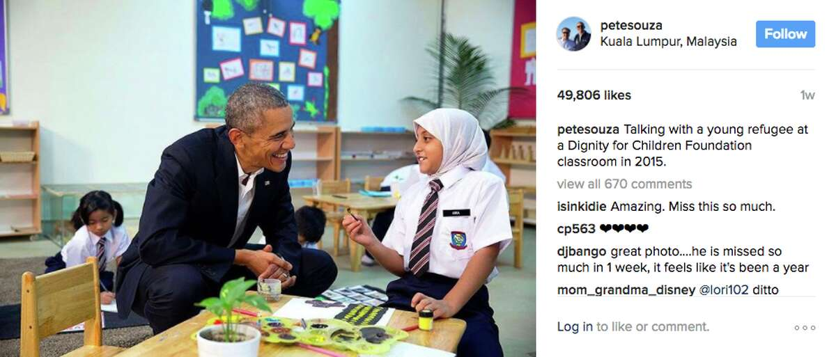 A photo of President Barack Obama from former White House photographer Pete Souza's Instagram.