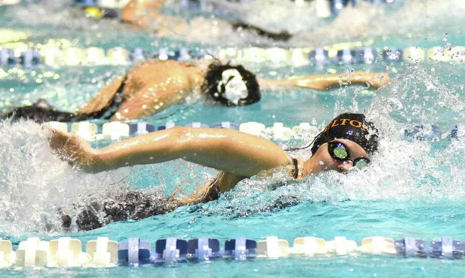 Shelton's Simona Visinski is a Hearst Connecticut Media girls swimming all-star. Photo: John Nash / Hearst Connecticut Media / Norwalk Hour