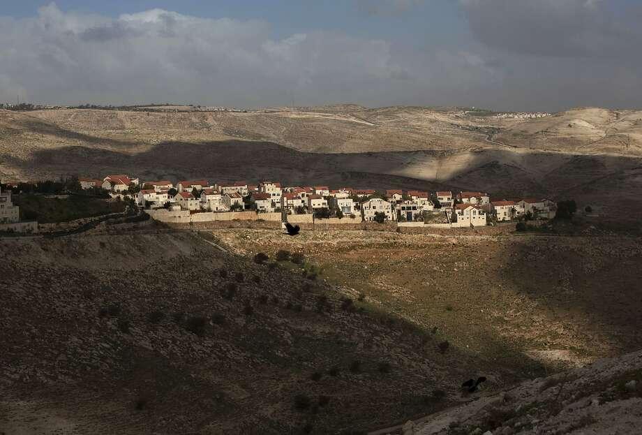 A 2013 photo shows the Jewish settlement of Maaleh Adumim on the outskirts of Jerusalem. Photo: Sebastian Scheiner, Associated Press