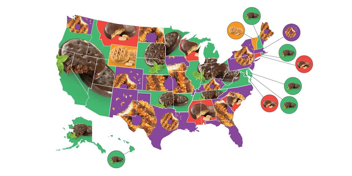Influenster names America's favorite Girl Scout cookies by state.