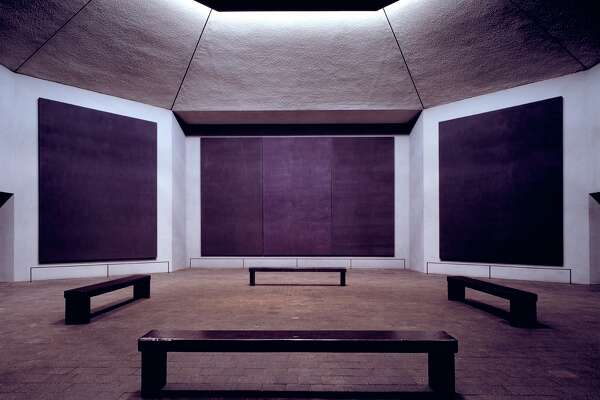 A view inside the Rothko Chapel.